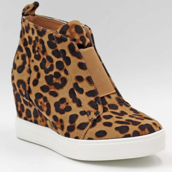 Ccocci Shoes   Zoey Leopard Wedge